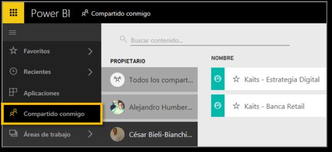 COMPARTIR DASHBOARD - COMPARTIDO CONMIGO